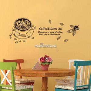 Decal dán tường Tách cà phê 5