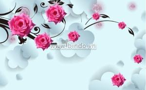 Tranh hiện đại hoa hồng 3D