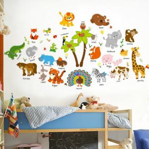Decal dán tường Vườn thú 24