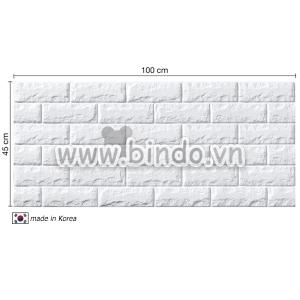 Xốp dán tường hàn quốc màu trắng (100x45)