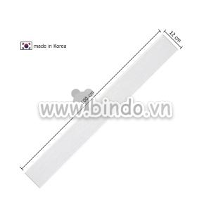 Xốp giả gỗ hàn quốc chân tường white (100x12)