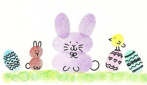 Hình vẽ gia đình thỏ