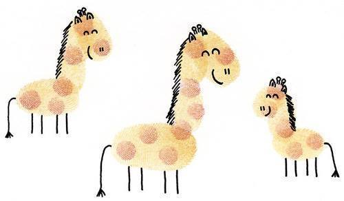 Hình vẽ gia đình ngựa