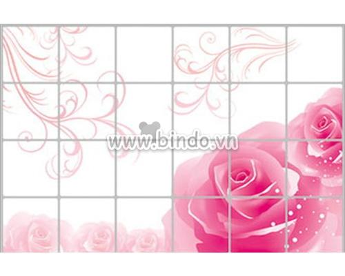 Decal dán tường Dán bếp Hoa hồng 9 (60x90)