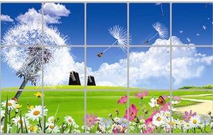 Decal dán tường Dán bếp hoa sắc màu 1