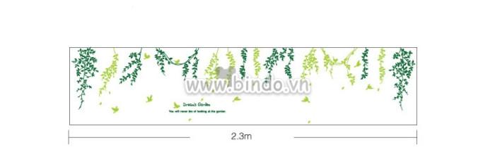 Decal dán tường Dây leo xanh