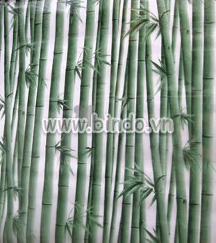 Decal dán tường Decal dán kính trúc xanh