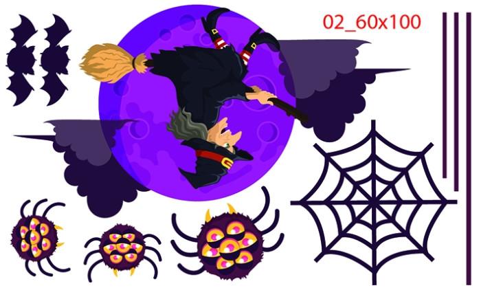 Decal dán tường Decal trang trí Halloween số 63