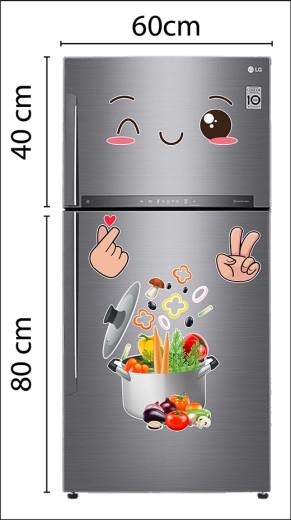 Decal dán tường Decal trang trí tủ lạnh số 17