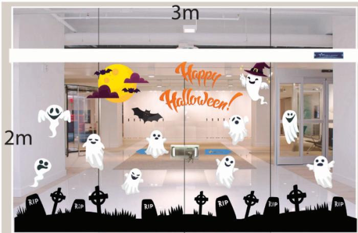 Decal dán tường Decal trang trí Halloween 2018 số 8