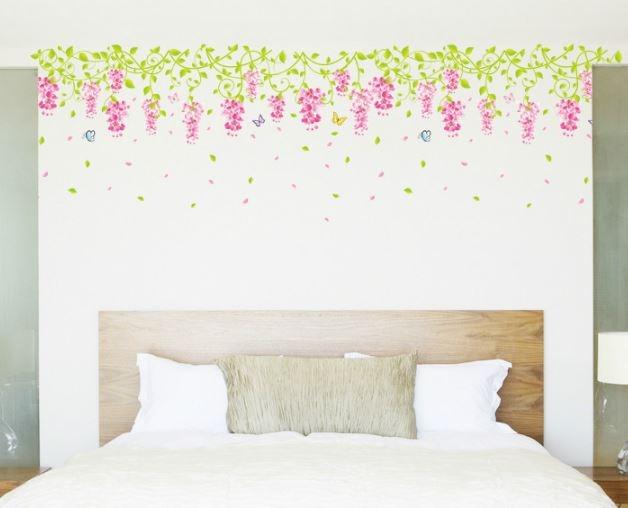 Decal dán tường Giàn hoa ti gôn nhỏ