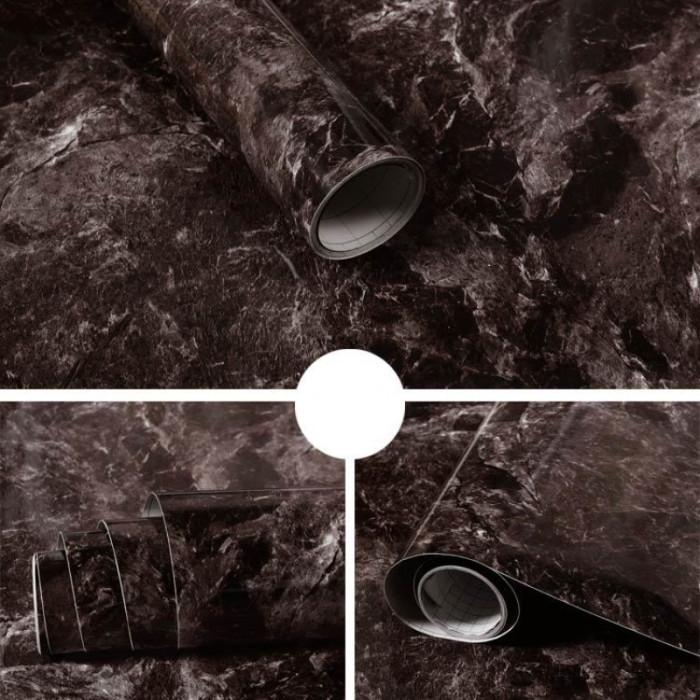 Giấy decal cuộn Đá hoa cương đen 1