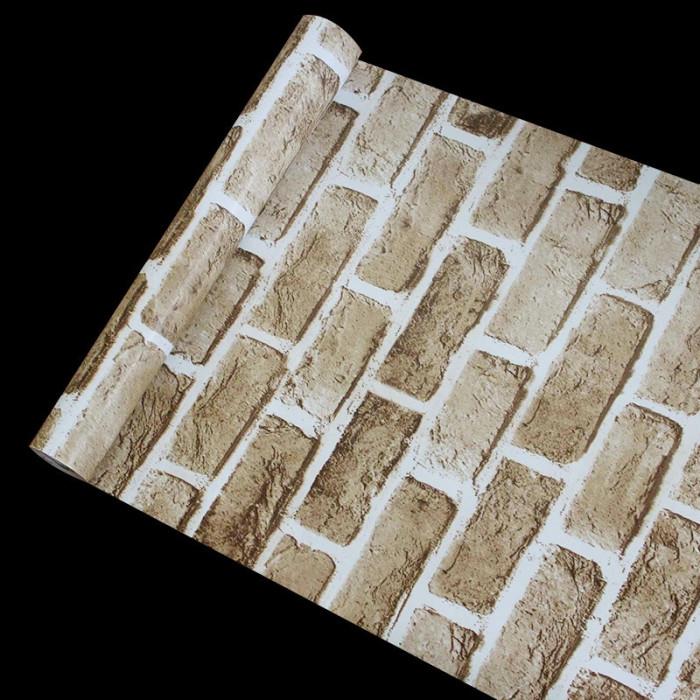 Giấy decal cuộn gạch xám nâu 1