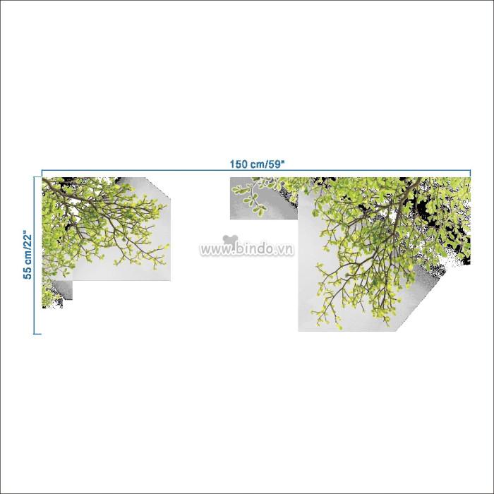 Decal dán tường Hai nhánh cây xanh