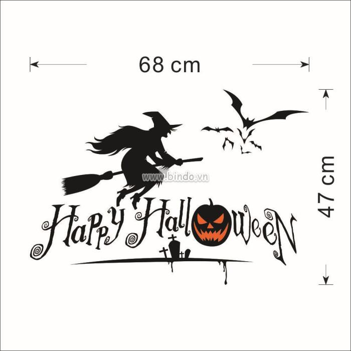 Decal dán tường Halloween 4