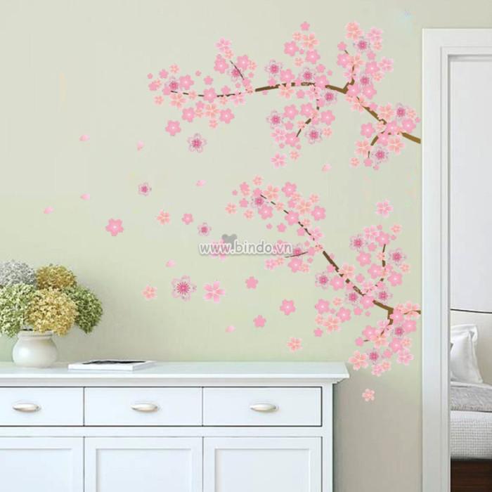Decal dán tường Hoa 5 cành hồng nhỏ
