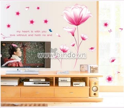 Decal dán tường Cát  tường hồng
