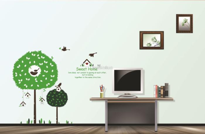 Decal dán tường Ngôi nhà hạnh phúc