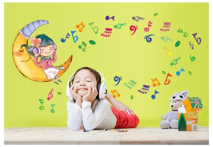 Decal dán tường Những nốt nhạc vui