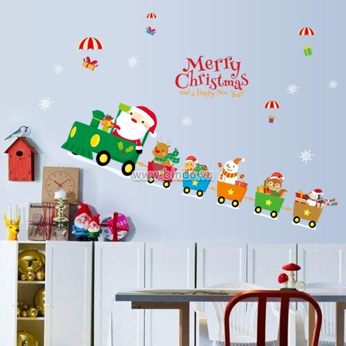 Decal dán tường Noel 35
