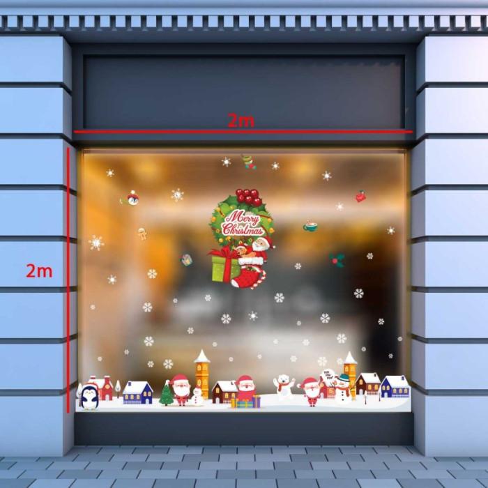 Decal dán tường Noel-Ông già phát quà giáng sinh