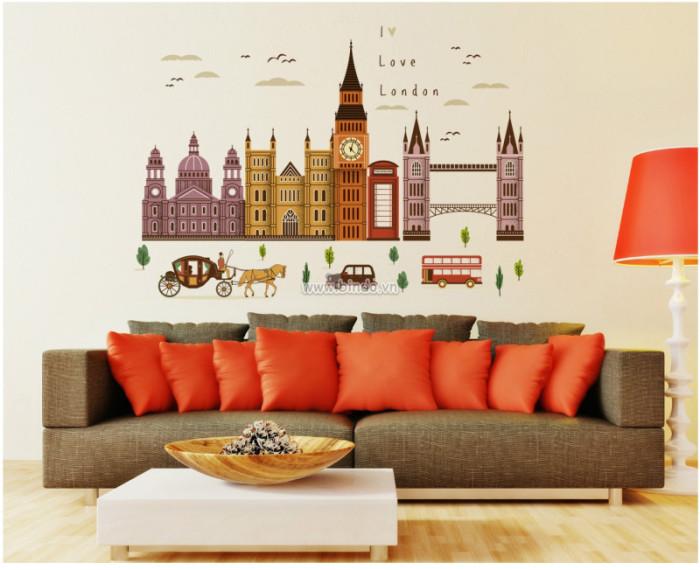 Decal dán tường Thành phố London 2