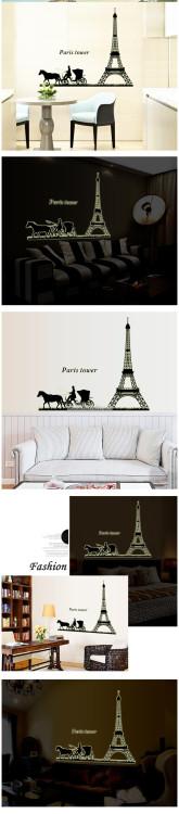 Decal dán tường Tháp Paris