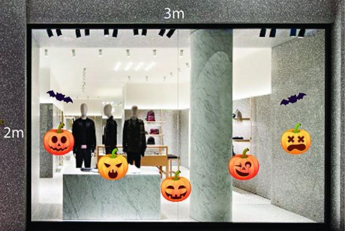 Decal dán tường Trang trí Halloween bí ngô số 2