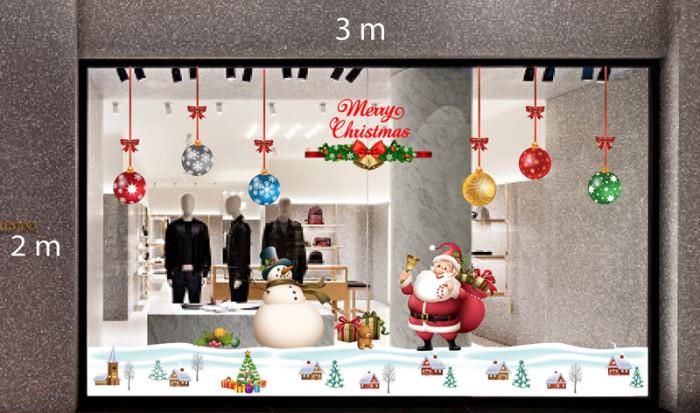Decal dán tường Trang trí Noel Combo Số 17