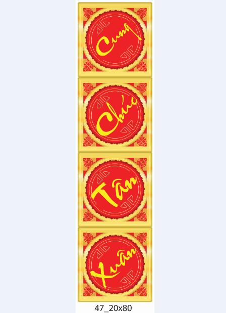 Decal dán tường Trang trí Tết Xuân Combo Số 43