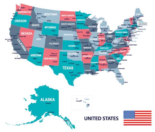 Tranh bản đồ Mỹ