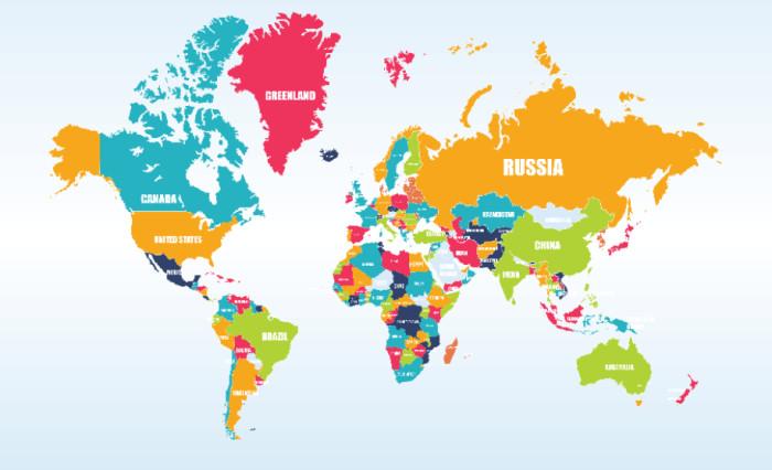 Tranh bản đồ thế giới sô 3
