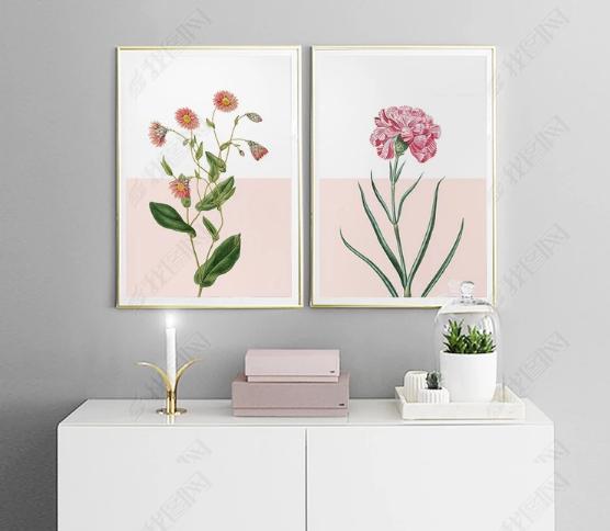 Tranh bộ 2 cành hoa