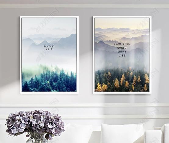 Tranh bộ 3 cảnh núi rừng