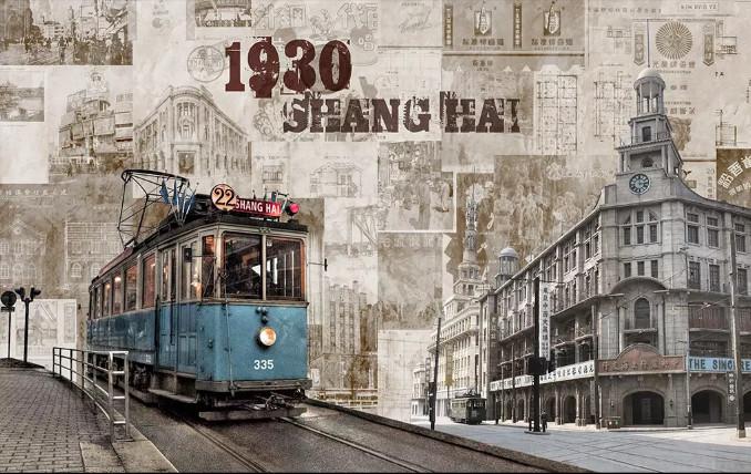 Tranh thành phố SHANG HAI 1930