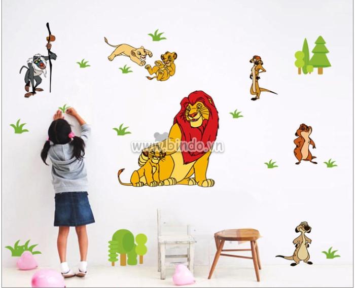 Decal dán tường Vua Sư tử