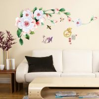 Decal dán tường Hoa cúc trắng