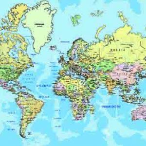 Tranh bản đồ thế giới