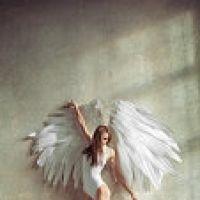 Tranh người mẫu và cánh thiên thần