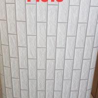 Decal dán tường Giấy decal cuộn gạch xám