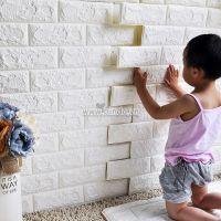 Decal dán tường Xốp dán tường màu trắng (7mm)