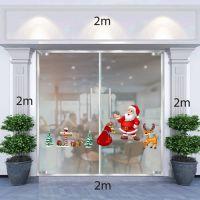 Decal dán tường Ông già Noel,tuần lộc và túi quà
