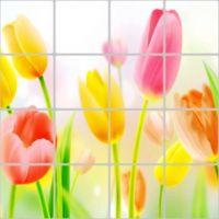 Decal dán tường Dán bếp hoa tulip