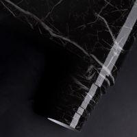 Decal dán tường Giấy decal cuộn đá hoa cương  vân đen