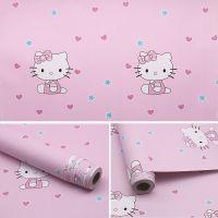 Decal dán tường Giấy decal cuộn Kitty hồng 2