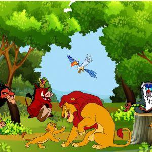 Tranh 3D vua sư tử và những người bạn (Lion King) số 3