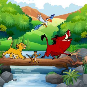Tranh 3D vua sư tử và những người bạn (Lion King) số 5