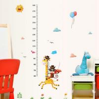 Decal dán tường Thước đo chiều cao hươu khỉ số 1