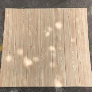Decal dán tường Xốp giả gỗ màu vàng kem