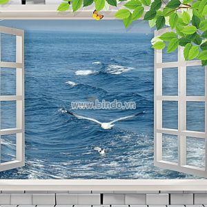 Cửa sổ biển và sóng